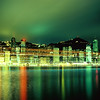 Night view of Hong Kong island waterfront skyline, 香港