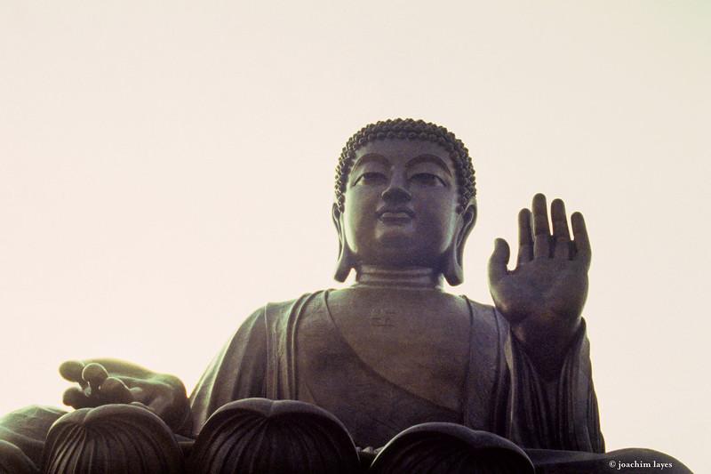 Big Buddha, or Tian Tan Buddha, in Ngong Ping, Lantau Island, in Hong Kong