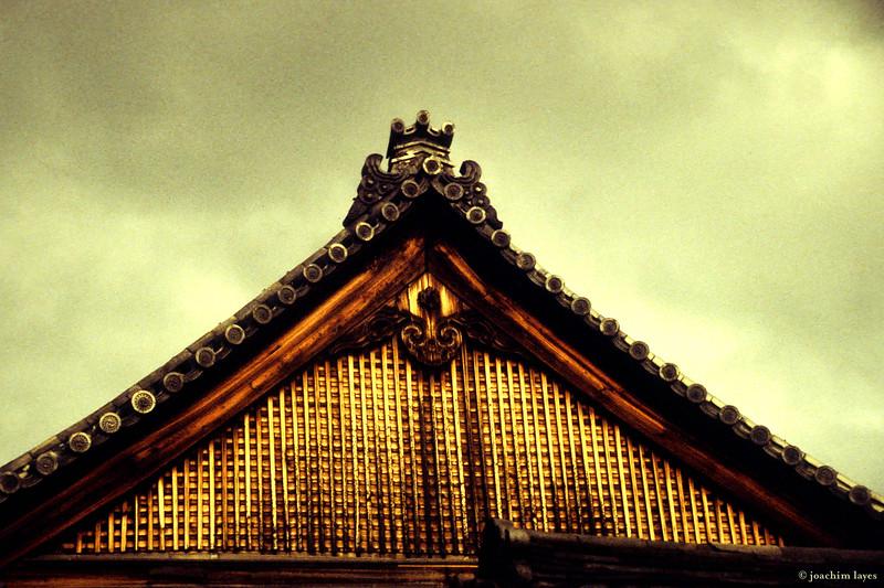 Temple roof, at Kiyomizu-Dera temple, Kyoto, Japan