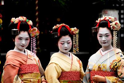 Geishas in Gion, Kyoto, Japan, 祇園