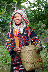 Traditional Akha clothing from a coffee journey to a village near Chiang Mai, Thailand.