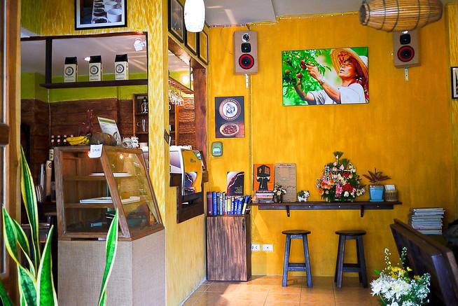 Akha Ama Coffee Shop Chiang Mai, Thailand.