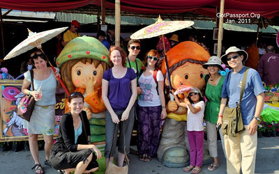 The Team Chiang Mai gang at the Bo Sang Umbrella Festival, Chiang Mai, Thailand
