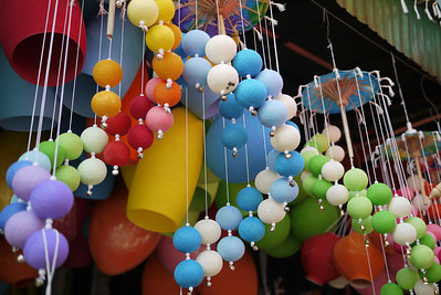 Color is the name of game at the Bo Sang Umbrella Festival, Chiang Mai, Thailand