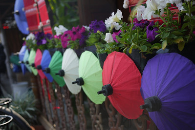Decorations adorn everything, Bo Sang Umbrella Festival, Chiang Mai, Thailand