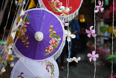 Beautiful hand crafted umbrellas, Bo Sang Umbrella Festival, Chiang Mai, Thailand