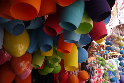Colorful wares, Bo Sang Umbrella Festival, Chiang Mai, Thailand
