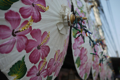 Hand painted umbrellas, Bo Sang Umbrella Festival, Chiang Mai, Thailand