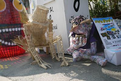 Paper mache art, Bo Sang Umbrella Festival, Chiang Mai, Thailand