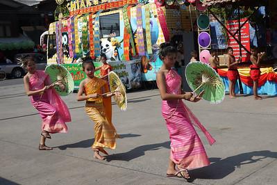 Umbrella cultural dance, Bo Sang Umbrella Festival, Chiang Mai, Thailand