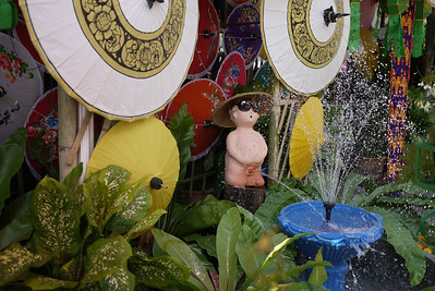 Decorated fountain, Bo Sang Umbrella Festival, Chiang Mai, Thailand