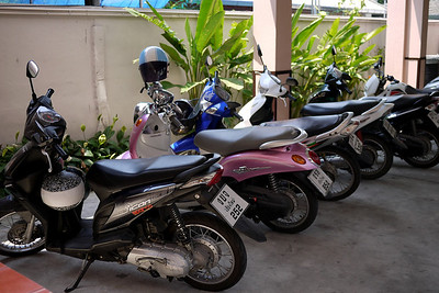 My motorcycle, the first one, the preferred and easiest way around Chiang Mai, Thailand.