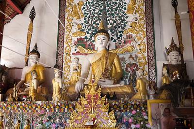 Buddha at a wat near Chiang Rai, Thailand