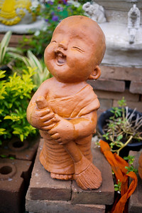 Happy monk statue Chiang Mai, Thailand