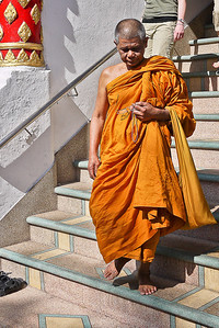A monk in Chiang Mai, Thailand