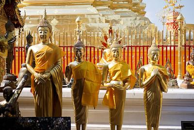 Buddhas at Doi Suthep in Chiang Mai, Thailand