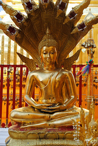 Buddha at Doi Suthep in Chiang Mai, Thailand (Claire)