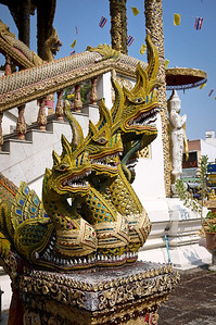 Tempkle and blue skies in Chiang Mai, Thailand