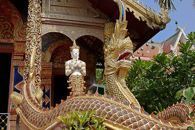 Beautiful wat outside of the old city in Chiang Mai, Thailand