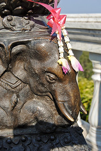 An elephant statue in Chiang Mai, Thailand (Claire)