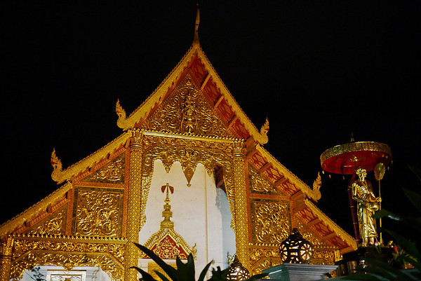 Wat Phra Singh at night in Chiang Mai, Thailand