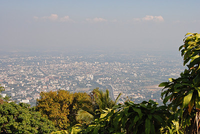 The views over Chiang Mai from Doi Suthemp in Thailand (Claire)