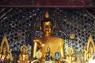 Buddha at Wat Doi Suthep in Chiang Mai, Thailand (Claire)