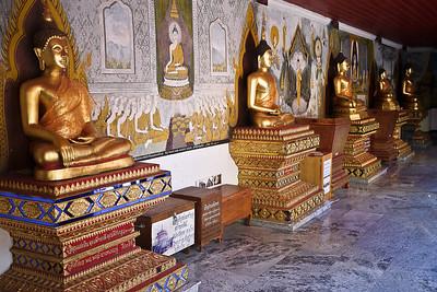 A line of Buddhas Chiang Mai, Thailand