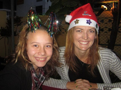 Ana and I celebrate Christmas in style  :)