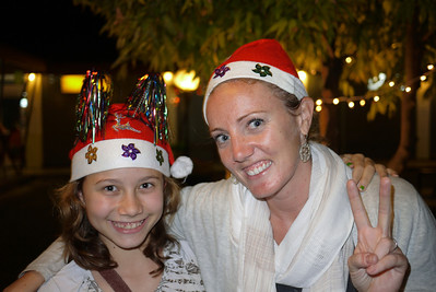 Ana and Monique in fun Christmas hats!