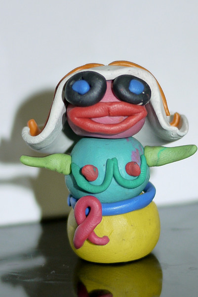 Ana's clay grandma figure