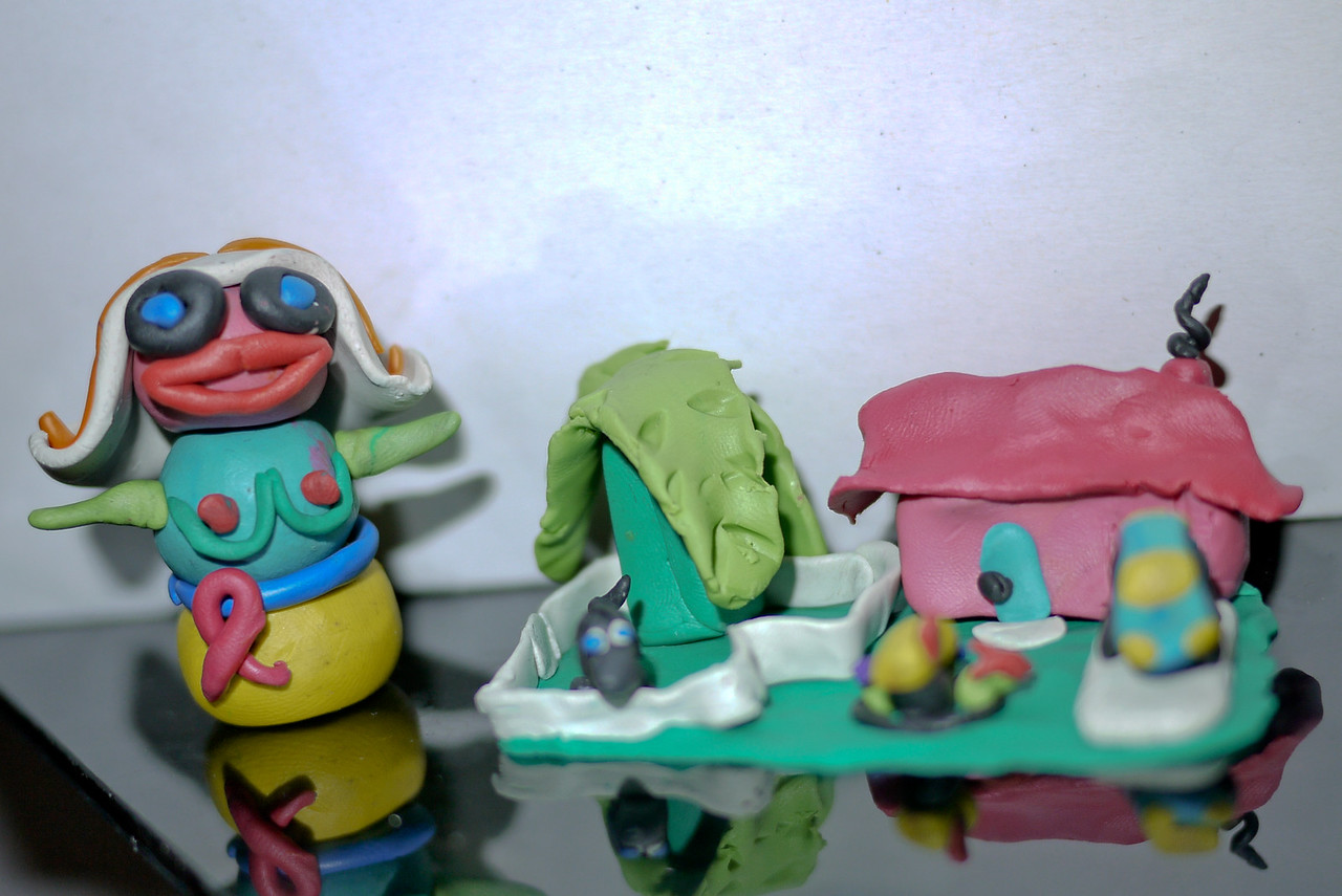 Our clay figures and designs.