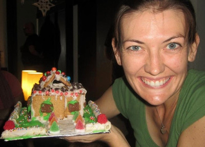 My colorful makeshift gingerbread house