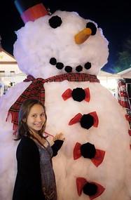 Ana and a (fake) snowman
