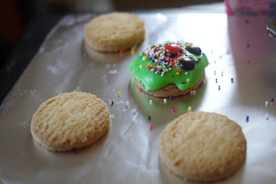 Ana's decorated Christmas cookies.
