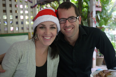 Chais and Shawna at Christmas dinner