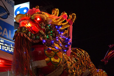 Decorative dragon at the Chinese New Year festivities in Chiang Mai, Thailand.