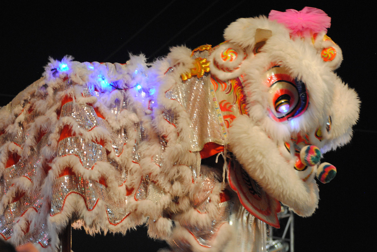 Decorative Chinese Dragon at the Chinese New Year festivities in Chiang Mai, Thailand.
