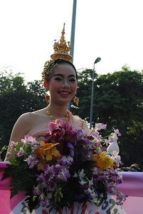 Flower parade at the Chiang Mai Flower Festival, Thailand