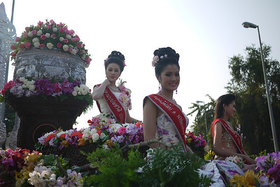Beauty Pageant float at the Chiang Mai Flower Festival, Thailand