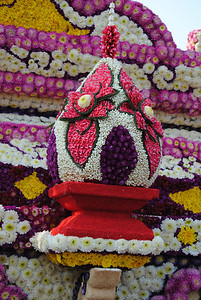 Flower decorations at the Chiang Mai Flower Festival, Thailand