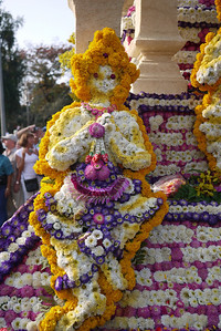 Decorations at Chiang Mai Flower Festival, Thailand