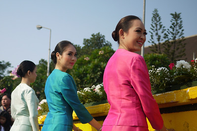 At the Chiang Mai Flower Festival, Thailand