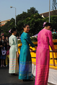 Women at the Chiang Mai Flower Festival, Thailand