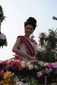 Beauty pageant contestant at the Chiang Mai Flower Festival, Thailand
