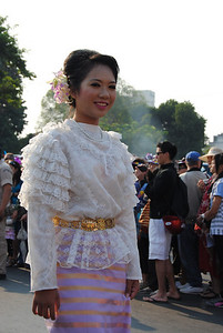 Festival parade at the Chiang Mai Flower Festival, Thailand