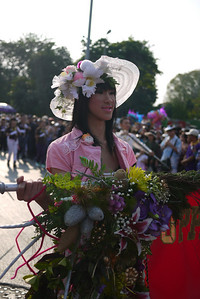 Thai Ladyboy at the Chiang Mai Flower Festival, Thailand