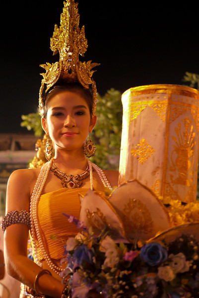 The parade for Loy Krathong in Chiang Mai, Thailand