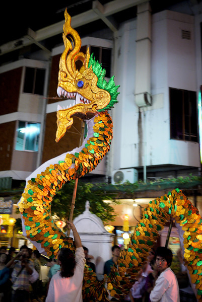 Parades during Loy Krathong in Chiang Mai, Thailand