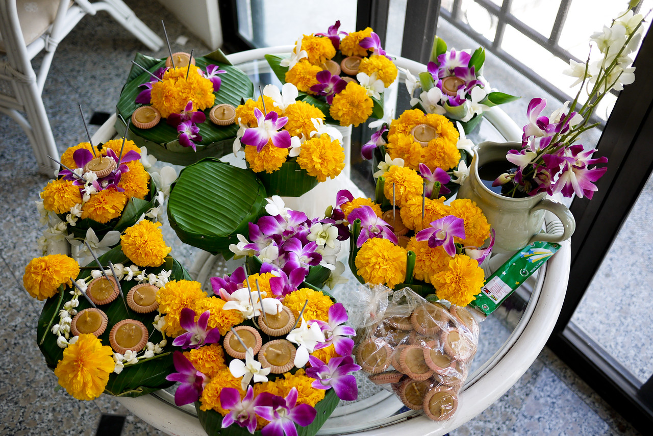 Our handiwork for Loy Krathong in Chiang Mai, Thailand